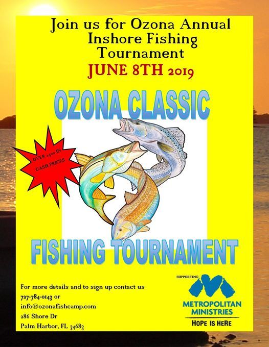 Join in for the Annual Ozona Classic Inshore Fishing Tournament – June 8th - Join the Annual Ozona Classic Inshore Fishing Tournament – June 8th